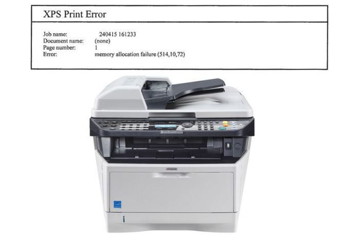 XPS Printer Error